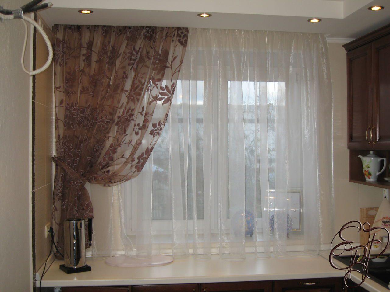 Тюли для кухни с фото